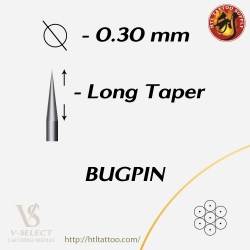 Round Liner Long Taper-Bugpin - EZ® V-System Cartridge Needles