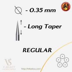 Round Shader Long Taper - EZ® V-System Cartridge Needles